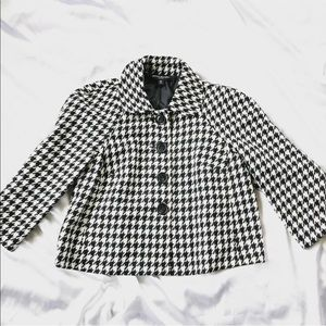 {Briggs New York} Houndstooth Blazer Jacket